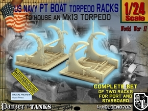 1/24 PT Torpedo Rack TypD in Smooth Fine Detail Plastic