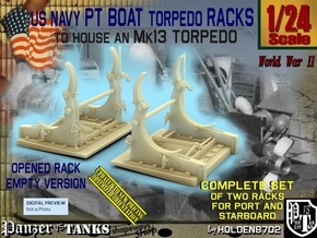 1/24 PT Torpedo Rack TypD Empty in Smooth Fine Detail Plastic