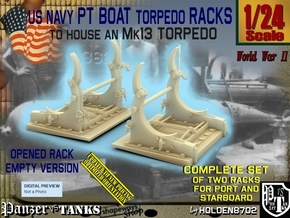 1/24 PT Torpedo Rack TypE Empty in Smooth Fine Detail Plastic
