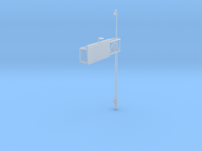 Highway Cantilever Sign 1-87 HO Scale With CCTV in Smooth Fine Detail Plastic