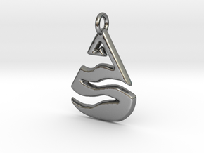 Leven Charm in Polished Silver