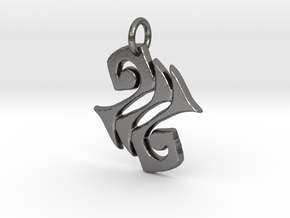 Zephyr Charm in Polished Nickel Steel