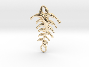 Memory of fish in 14k Gold Plated Brass