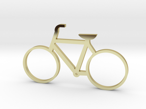 Bicycle Keychain in 18k Gold Plated Brass