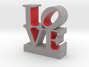 Love 033018 Gray&Red 0.5 shell in Full Color Sandstone