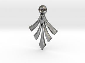 Modern Arrowhead (smooth texture) with hidden bail in Polished Silver