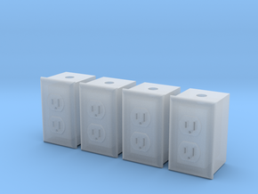 1/12 Dual Outlet, Qty 4 in Smooth Fine Detail Plastic