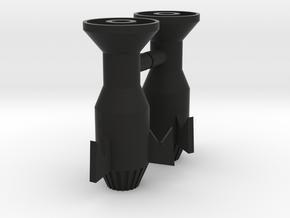 Micronauts Baron Karza Large Missile Holders in Black Natural Versatile Plastic