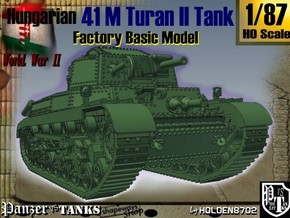 1-87 Hungarian 41M Turan II Basic in White Natural Versatile Plastic