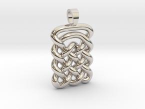 Plate celtic knot [pendant] in Platinum