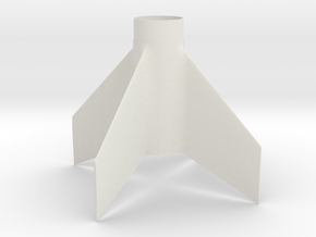 Antares style Fin Unit for BT60 and 24mm motors in White Natural Versatile Plastic