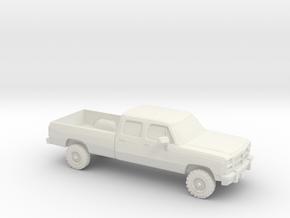 1/64 1991-93 Dodge Ram Crew Cab in White Natural Versatile Plastic