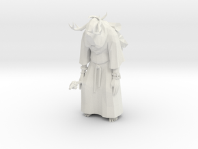 Tribal Eldar in Robe  in White Natural Versatile Plastic