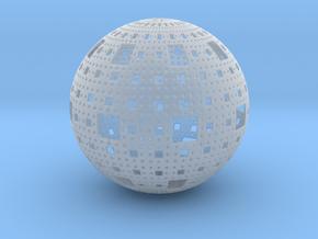Menger Sphere in Smooth Fine Detail Plastic