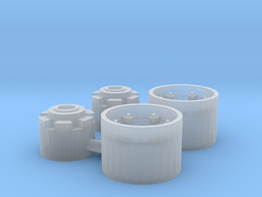 MF cast front (separate hub/rim) in Smooth Fine Detail Plastic