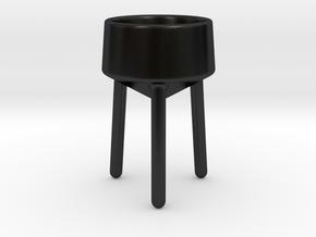 vasectus_short_long in Matte Black Porcelain
