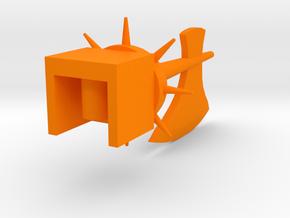 Axe of the Legendary Commander (Spiked Version) in Orange Processed Versatile Plastic