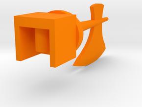 Axe of the Legendary Commander (Non-Spiked Version in Orange Processed Versatile Plastic