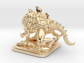 BrainBeast in 14k Gold Plated Brass