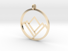 A Mountain in A Circle in 14K Yellow Gold