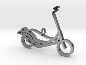 ElliptiGO pendant in Polished Silver