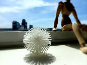 Acupuncture Stress Ball: Sea Urchin in White Natural Versatile Plastic