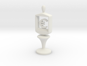 Currency symbol figurine,Euro in White Natural Versatile Plastic