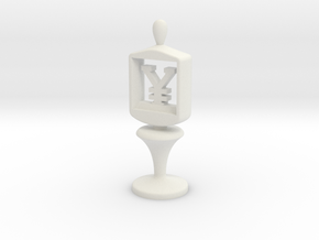 Currency symbol figurine,Yen in White Natural Versatile Plastic