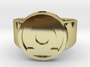 Green Lantern Ring in 18k Gold