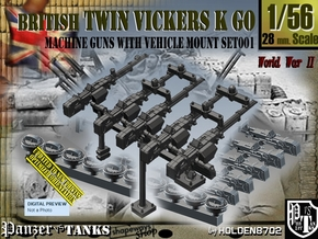 1/56 Vickers K GO Set001 in Smooth Fine Detail Plastic