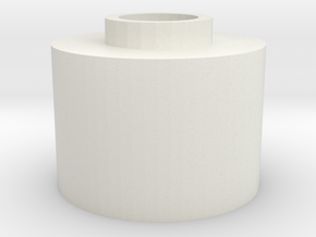 V2:  G&G GR25 Hopup spacer for m4 unit  in White Natural Versatile Plastic