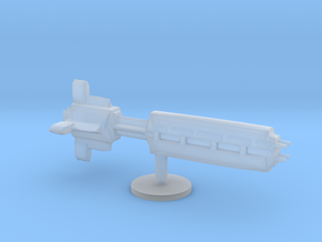 star ship dreadnought board game piece  in Smooth Fine Detail Plastic
