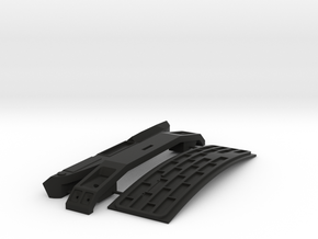 FTF Dashboard,front en bumper 1:24 in Black Natural Versatile Plastic