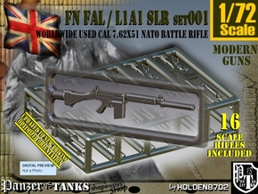 1/72 FN FAL Rifle Set001 in Smoothest Fine Detail Plastic
