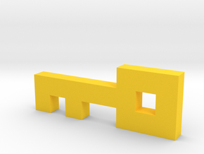 8-Bit Key from Atari Adventure Video Game in Yellow Processed Versatile Plastic: Medium