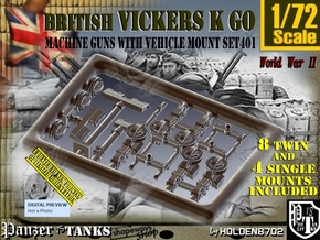 1/72 Vickers K GO Set401 in Smoothest Fine Detail Plastic