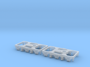 N Scale Pullman 242 Truck Frame 2PK in Smoothest Fine Detail Plastic