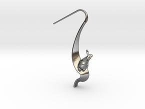 Rabbit Earrings (Speaking) in Polished Silver