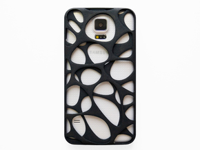 Samsung Galaxy S5 Case_Voronoi in Black Natural Versatile Plastic