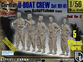 1/56 German U-Boot Crew Set101-01 in Frosted Ultra Detail