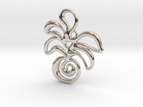 Tropical island in Rhodium Plated Brass