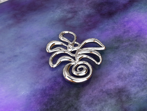 Tropical island in Polished Silver