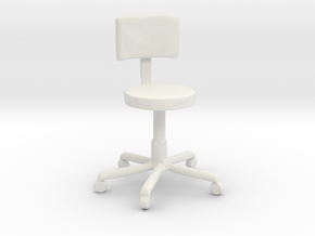 Printle Thing Office Chair 1/24 in White Natural Versatile Plastic