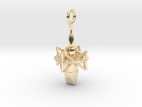 Pro Studio Microphone Pendant in 14k Gold Plated Brass