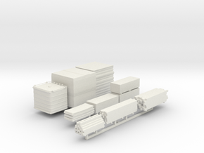 Construction Yard Lumber Materials Sprue  in White Natural Versatile Plastic