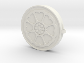 Lotus Tile With Keychain Model in White Natural Versatile Plastic