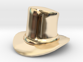 Eggcessories! Top Hat in 14k Gold Plated Brass