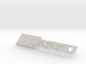 Ford Mustang S550 Tri-Bar Fender Badge in White Natural Versatile Plastic