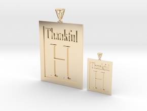 Thankful H Couple's Pendants in 14K Yellow Gold
