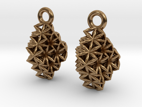 Time Crystal Earrings in Natural Brass